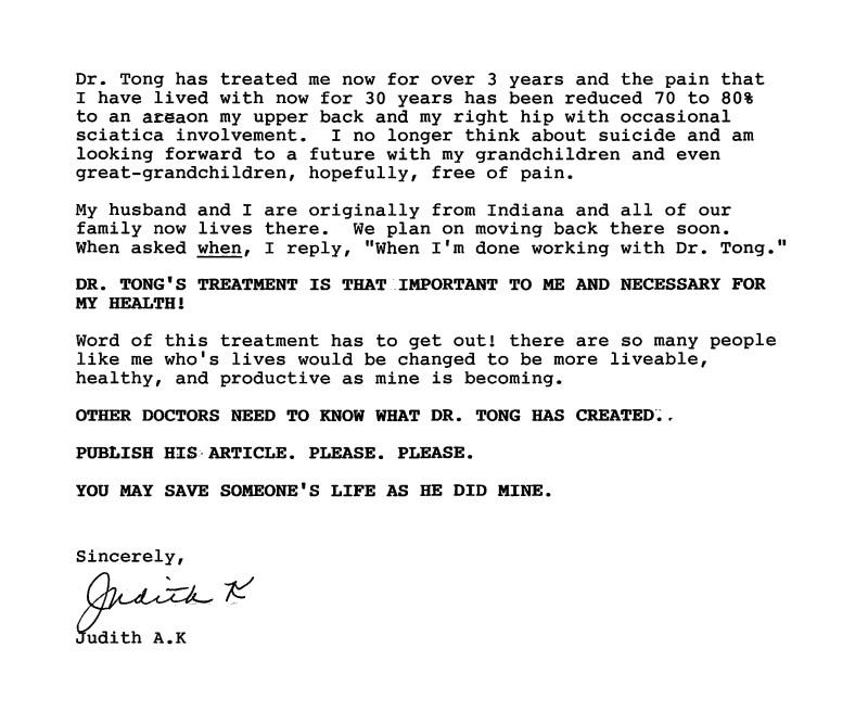 40 - Dr Tong Testimonial Letter