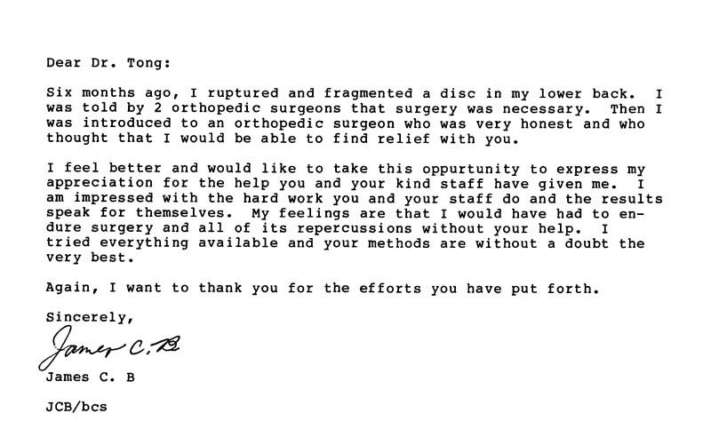 44 - Dr Tong Testimonial Letter