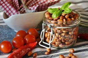 beans jar tomatoes food